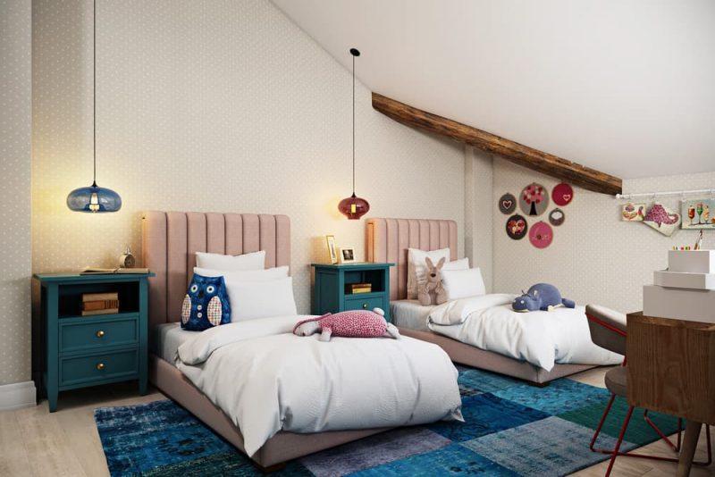 Детская комната для двоих детей девочек - дизайн 2 фото 1