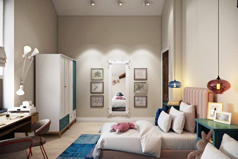 Детская комната для двоих детей девочек - дизайн 2 фото 3