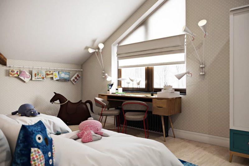 Детская комната для двоих детей девочек - дизайн 2 фото 4