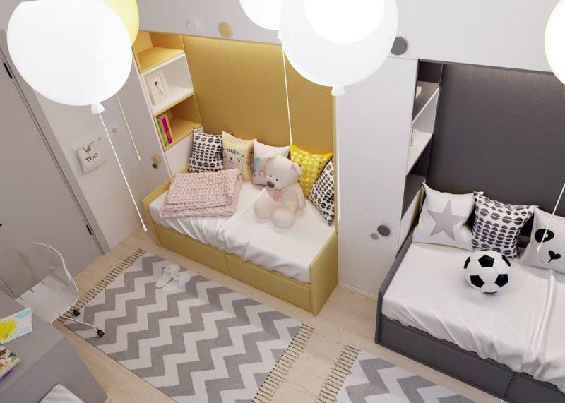 Детская комната для двоих разнополых детей - дизайн 3 фото 1