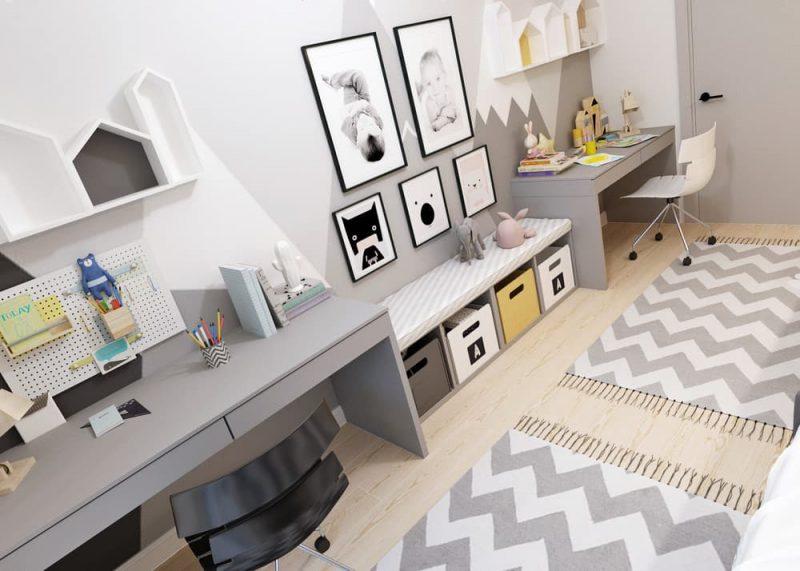 Детская комната для двоих разнополых детей - дизайн 3 фото 3