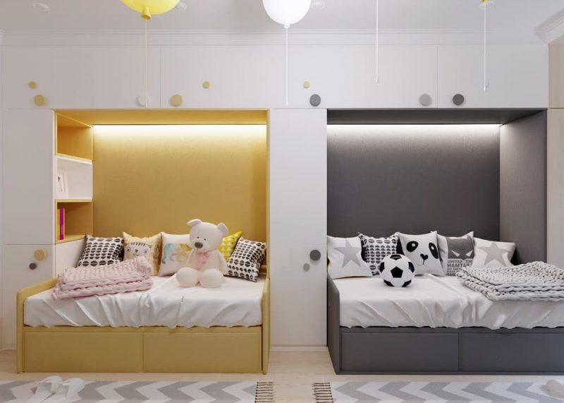 Детская комната для двоих разнополых детей - дизайн 3 фото 4