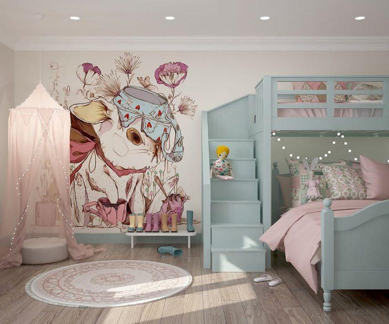 Детская комната для двух девочек - дизайн 1 фото 1