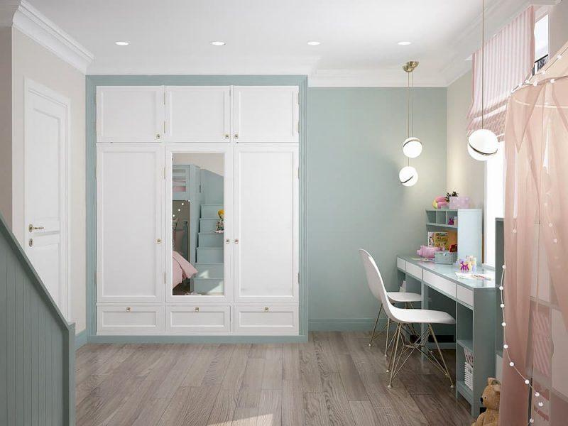Детская комната для двоих девочек - дизайн 1 фото 3