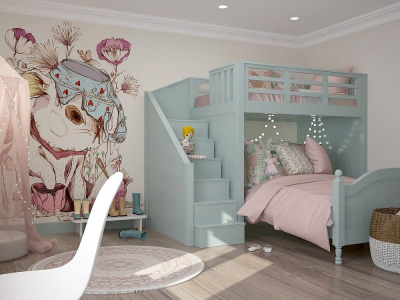 Детская комната для двух девочек - дизайн 1 фото 4