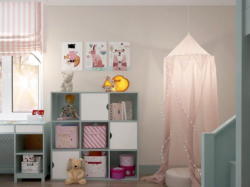 Детская комната для двоих девочек - дизайн 1 фото 5