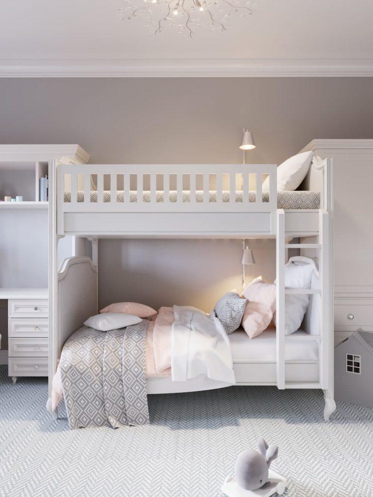 Детская комната для двух девочек - дизайн 3 фото 1