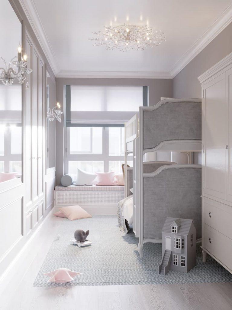 Детская комната для двух девочек - дизайн 3 фото 2