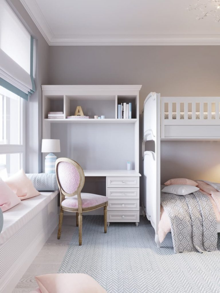 Детская комната для двух девочек - дизайн 3 фото 3