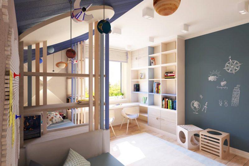 Детская комната для двоих детей - дизайн 2 фото 1