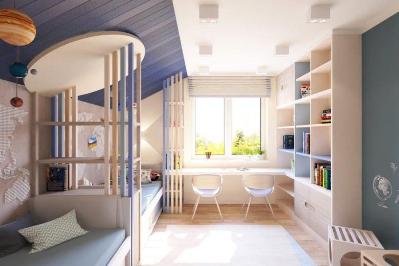 Детская комната для двоих детей - дизайн 2 фото 2
