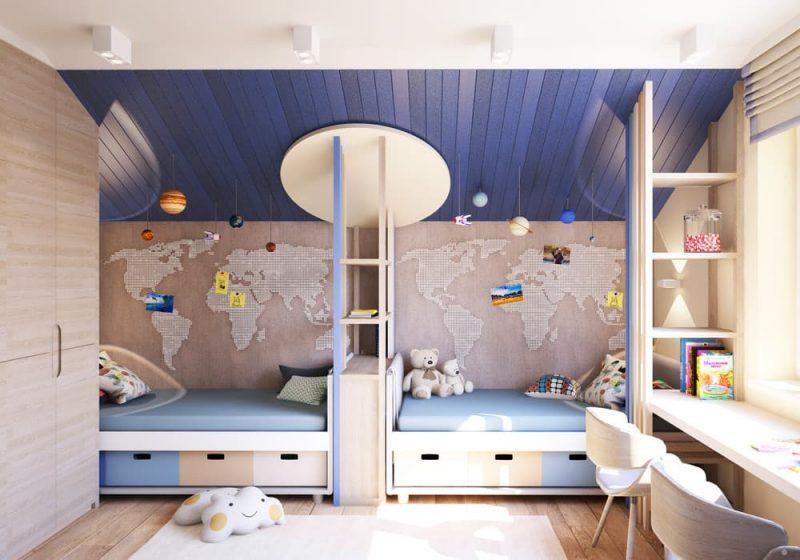 Детская комната для двоих детей - дизайн 2 фото 3