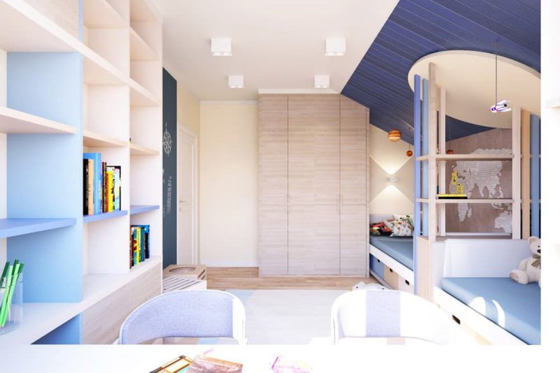 Детская комната для двоих детей - дизайн 2 фото 5