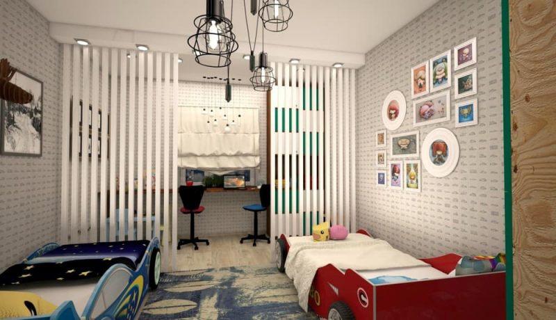 Детская комната для двух мальчиков - дизайн 1 фото 1