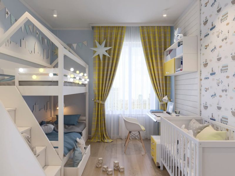 Детская комната для двух мальчиков - фото 51