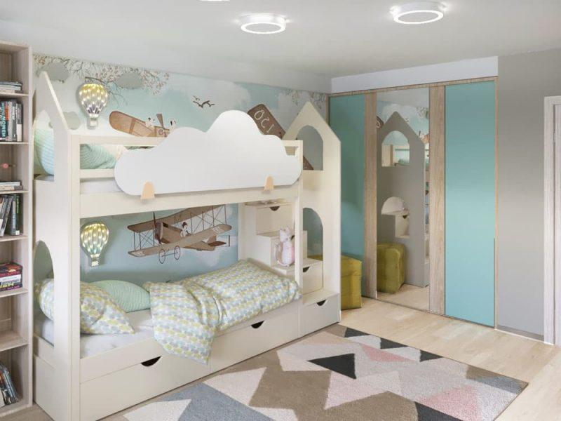 Детская комната для 2 мальчиков - дизайн 4 фото 1