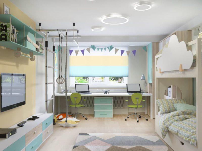 Детская комната для 2 мальчиков - дизайн 4 фото 2