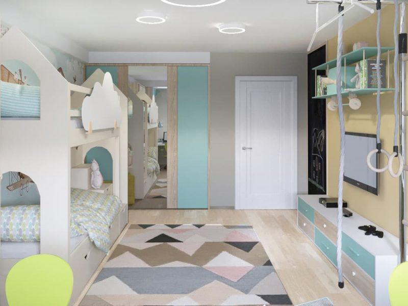 Детская комната для 2 мальчиков - дизайн 4 фото 4