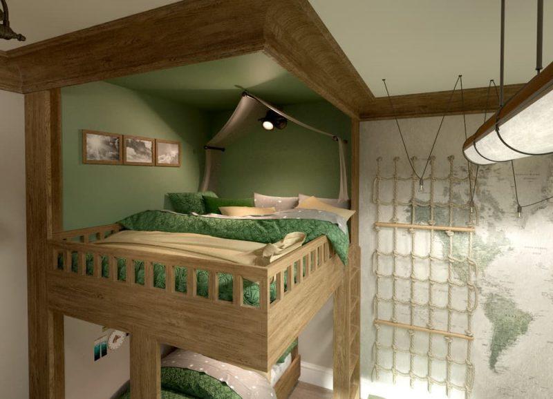 Детская комната под дерево для двух мальчиков - дизайн 3 фото 2