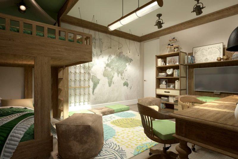 Детская комната под дерево для двух мальчиков - дизайн 3 фото 5