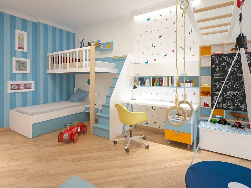 Дизайн детской комнаты для двоих мальчиков - проект 2 фото 1