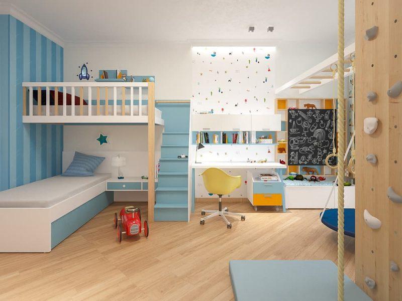 Дизайн детской комнаты для двоих мальчиков - проект 2 фото 2