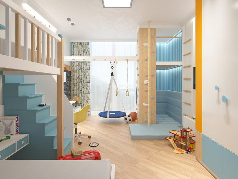 Дизайн детской комнаты для двоих мальчиков - проект 2 фото 3