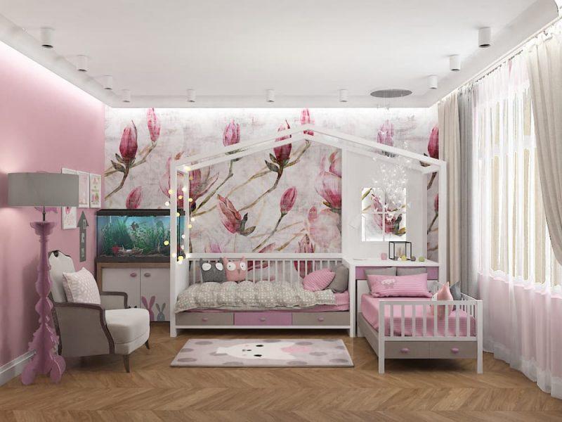Дизайн детской комнаты для двух девочек - проект 4 фото 1