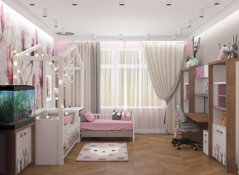 Дизайн детской комнаты для двух девочек - проект 4 фото 2