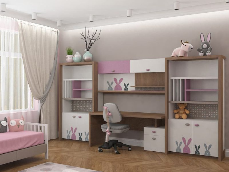 Дизайн детской комнаты для двух девочек - проект 4 фото 3