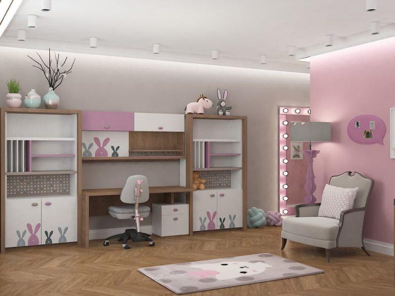 Дизайн детской комнаты для двух девочек - проект 4 фото 4