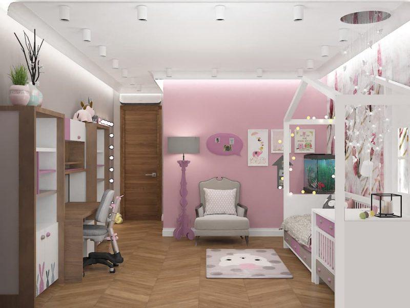Дизайн детской комнаты для двух девочек - проект 4 фото 6
