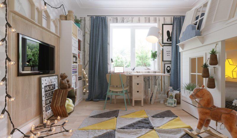 Интерьер детской комнаты для двух детей - фото 1