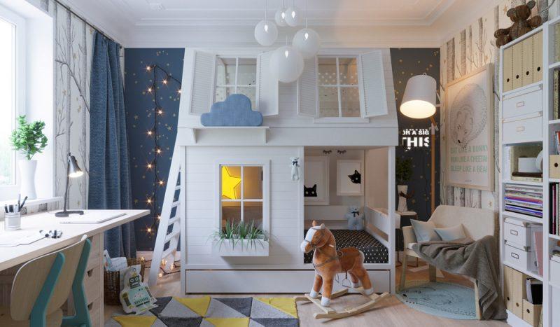 Интерьер детской комнаты для двух детей - фото 2