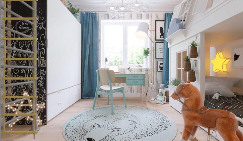 Интерьер детской комнаты для двух детей - фото 3
