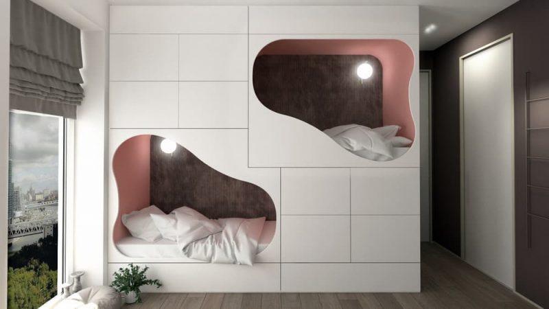 Современная детская комната для 2 мальчиков - фото 61