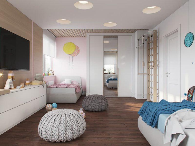 Дизайн комнаты для девочки и мальчика подростков - фото 1
