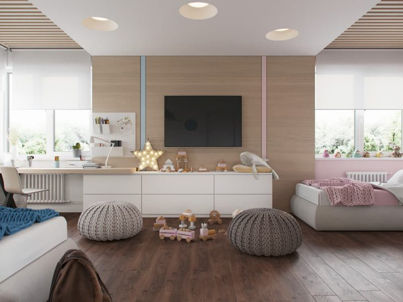 Дизайн комнаты для девочки и мальчика подростков - фото 3