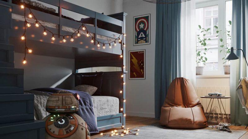 Дизайн комнаты для двух подростков - проект 1 фото 1