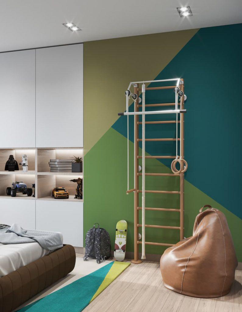 Дизайн узкой комнаты для подростка мальчика - фото 3