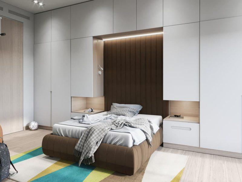 Дизайн узкой комнаты для подростка мальчика - фото 4