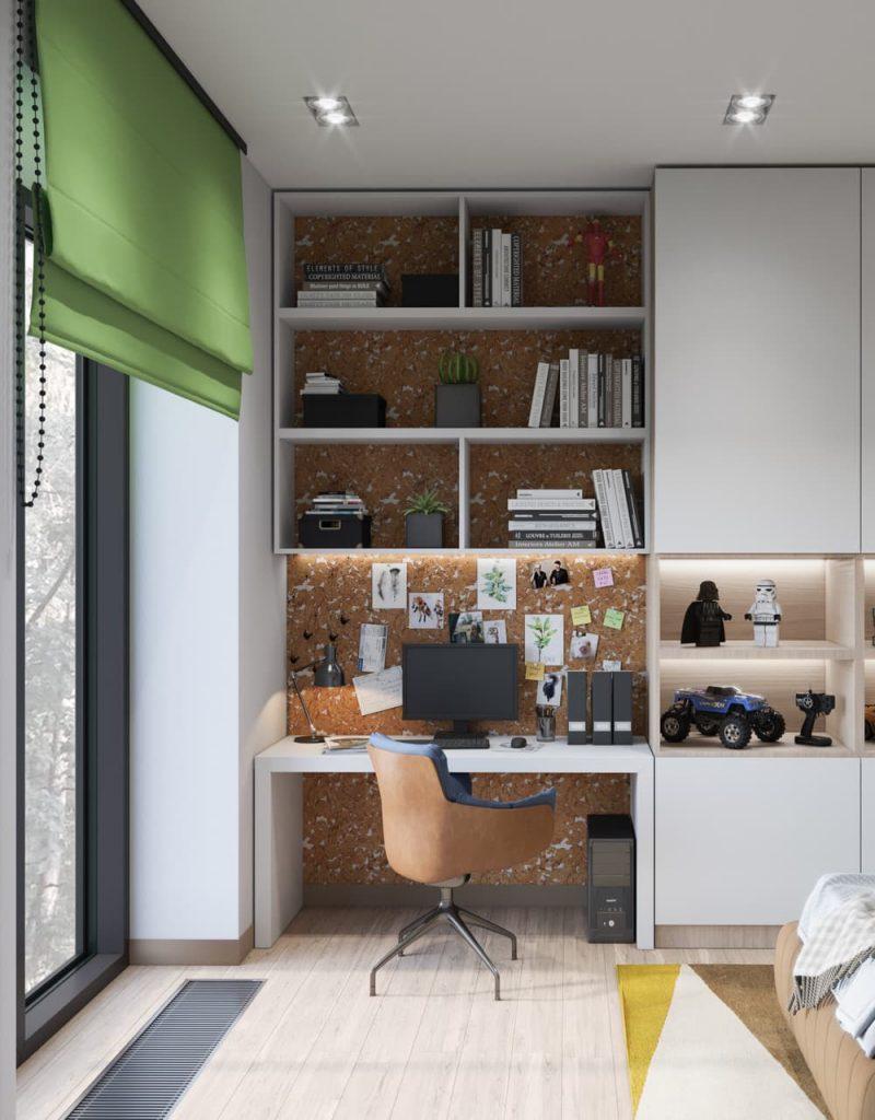 Дизайн узкой комнаты для подростка мальчика - фото 5