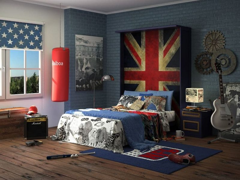 Комната для подростка в стиле фьюжн