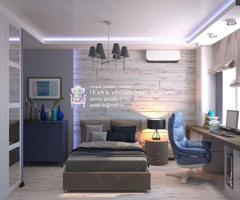 Современный дизайн комнаты для подростка мальчика - фото 2